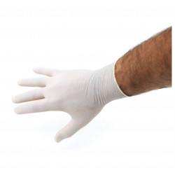 Gants latex jetable